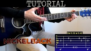 Cómo tocar Savin Me de Nickelback (Tutorial de guitarra) / How to play
