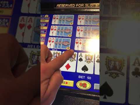 $16,000 Double Double Bonus Win 4 Aces Jackpot Video Poker