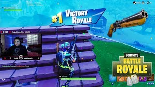 LosPollos Gets A Fortnite Win Trying Out New Double Barrel Shotgun