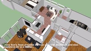 3D Floor Plan Fly Through-Pasadena Top Real Estate Top Agent,Realtor Broker-Jerry Sun