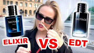 DIOR SAUVAGE ELIXIR vs SAUVAGE EDT **Women's Reactions** WHICH ONE SMELLS MORE ATTRACTIVE 💋