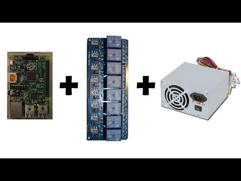 [Howto] Raspberry PI + Relay module + ATX PSU [French + EN subs]