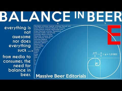 Massive Beer Editorials: Everything isn't awesome nor sucks ... the lack of Balance In Beer