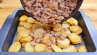 simple and quick recipe, potatoes with minced meat, please the whole family # 201