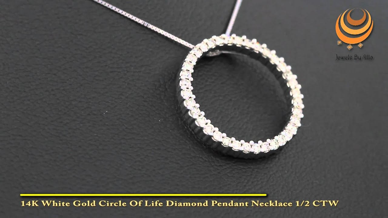 Circle Of Life Pendant 14k white gold circle of life diamond pendant necklace 12 ctw youtube 14k white gold circle of life diamond pendant necklace 12 ctw audiocablefo