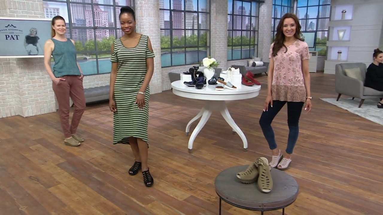 0aa4ac8175fb Skechers Suede Peep-toe Sling-back Wedges - Trapezoid on QVC - YouTube