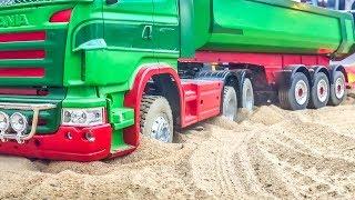 RC trucks! Truck stuck! Tractors! Heavy load! Epic compilation!