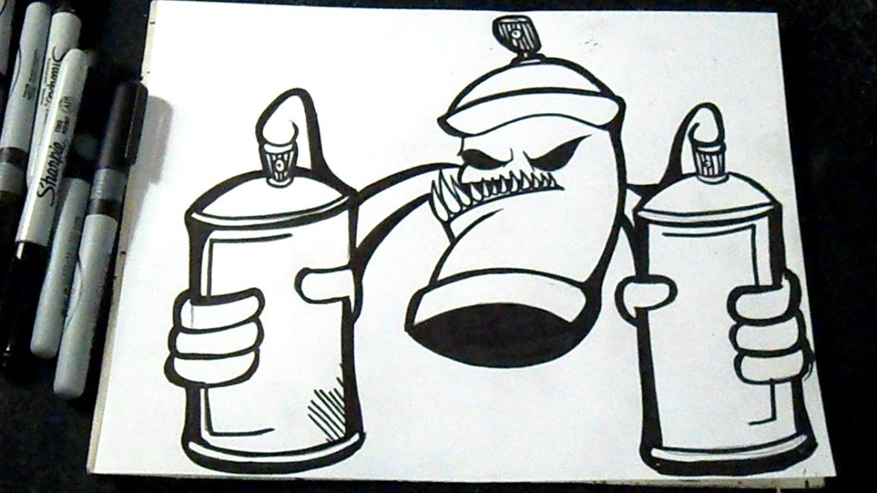 Cmo dibujar un aerosol con Latas de spray Graffiti  ZaXx  YouTube