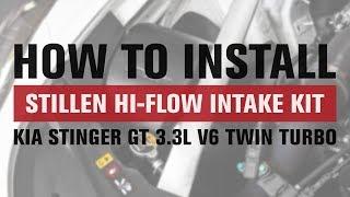 homepage tile video photo for HOW TO: 2018 Kia Stinger GT 3.3L V6 Twin Turbo Hi-Flow Intake Kit Install | STILLEN