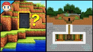 Minecraft: How to Build a Secret Base Tutorial (#7) - Easy Hidden House!
