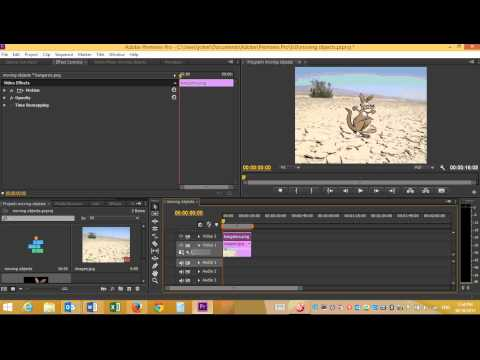 Moving Objects Premiere Pro CS6