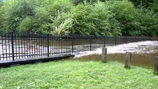 Rancocas Creek flooding at Smithville Dam