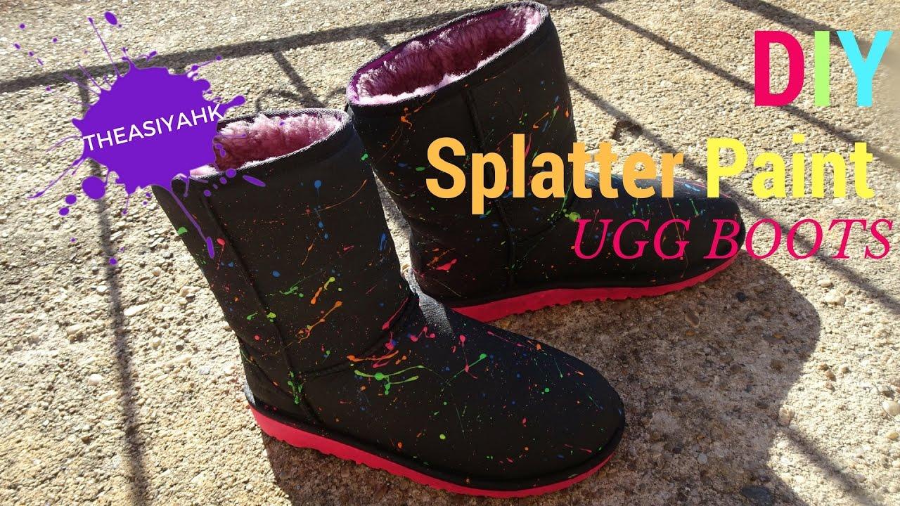 d5ca4a5d12f DIY Splatter Paint UGG Boots Tutorial | UGG Revamp