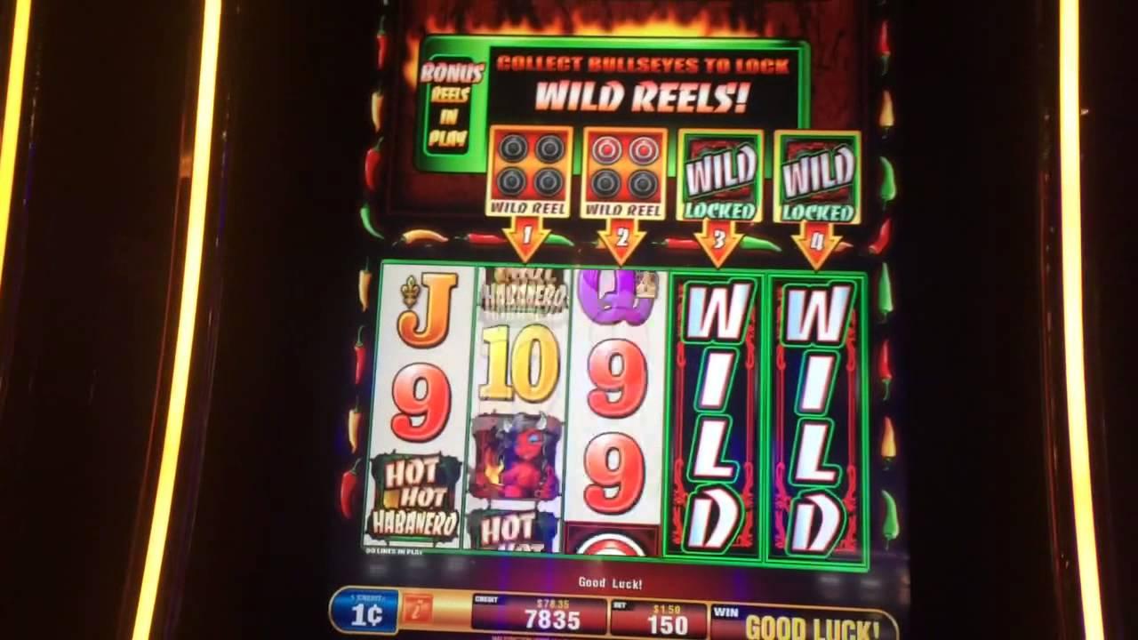 Hot Hot Habanero Slot Machine Bullseye Bonus Max Bet - YouTube