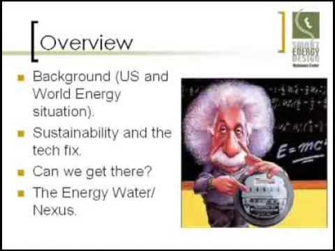 Sustainability, Energy, and the Energy/Water Nexus