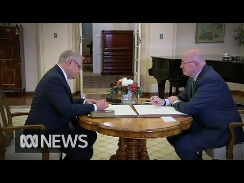 Scott Morrison is sworn in as Australia's 30th Prime Minister