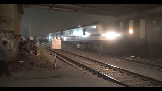 Thrilling Aggression & Acceleration by 2 Superfast Express Trains at Bhilai Power House, India
