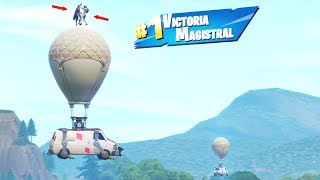 I TAKE the *NEW* FORTNITE GANCHO TO CLIMB TO a GLOBE and GET VICTORY! 🎈😯 DUO vs SQUAD