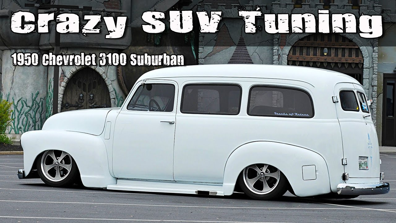 crazy suv tuning 1950 chevrolet 3100 suburban lowrider [ 1280 x 720 Pixel ]