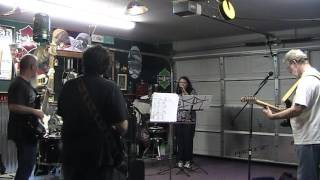 Band Rehearsal-featuring Shannon-CCR cover Midnight Special-7-26-13