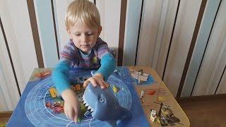 Играем в настольную игру Акулья охота от Хасбро. hasbro. shark hunting.