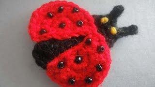 Аппликация Божья коровка Applique Ladybug  Crochet(, 2014-07-31T19:47:01.000Z)