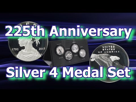 US Mint Releases 225th Anniversary Silver 4 Medal Set
