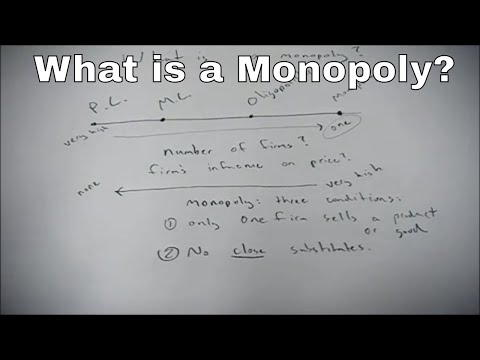 What is a monopoly?  An economic definition