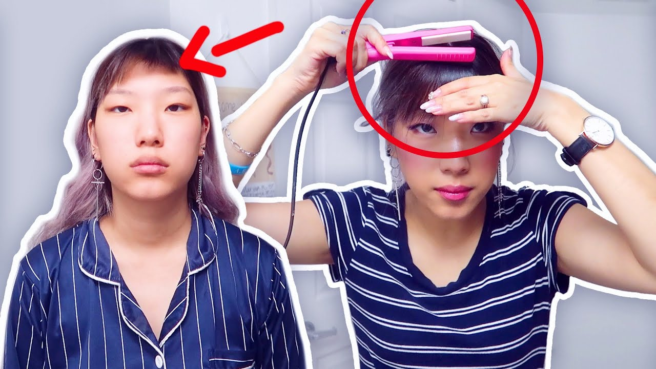 Cut Your Bangs Too Short Do This Youtube