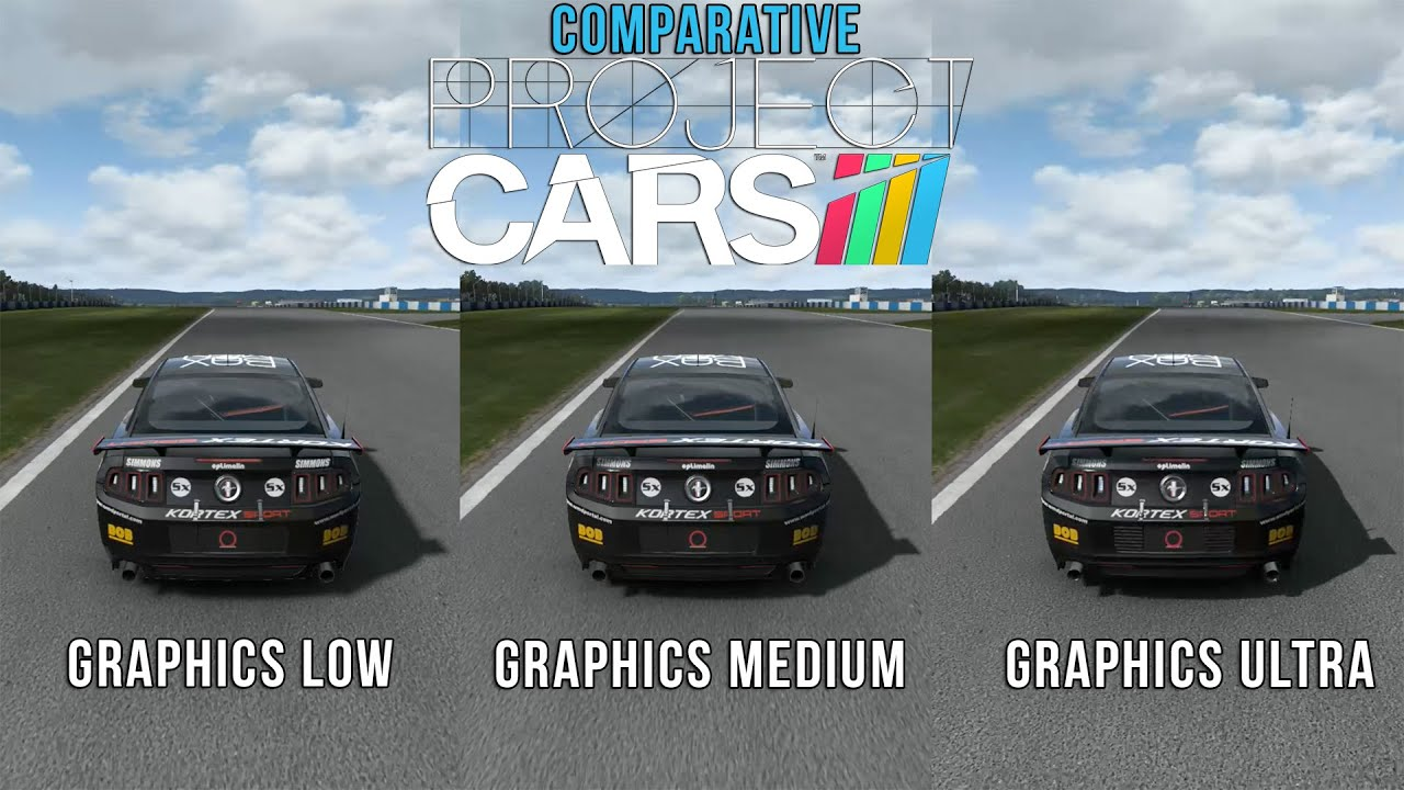 Project CARS Graphics Comparison Ultra Medium Low - Ford Mustang : ford mustang project cars - markmcfarlin.com