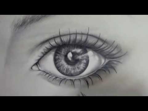 cara menggambar mata