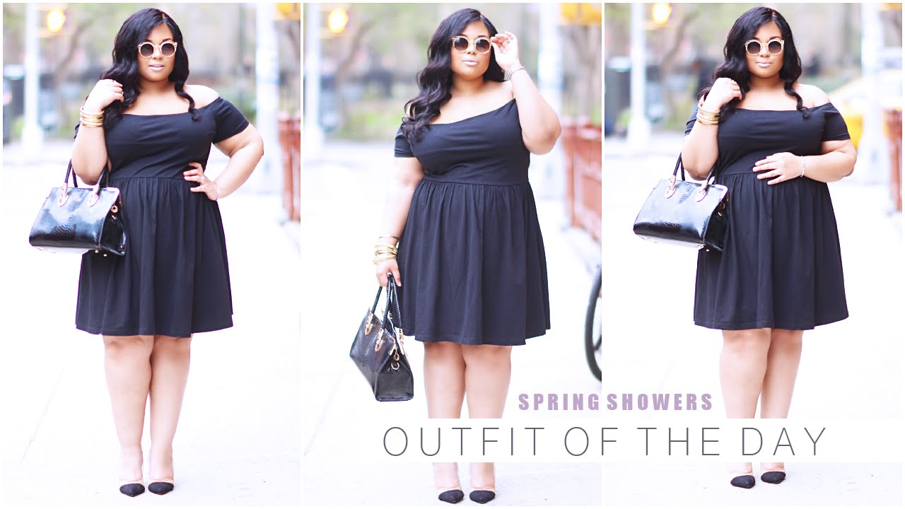 PASSIONJONESZ | PLUS SIZE MATERNITY OOTD | SPRING SHOWERS - YouTube