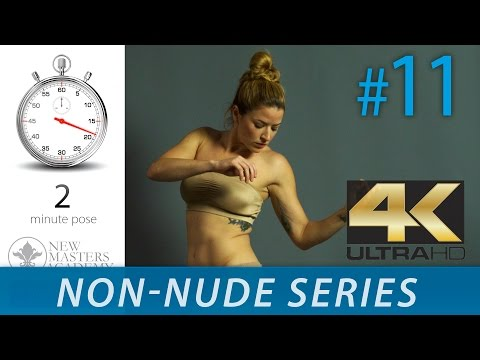 Life Drawing Images - Figure Drawing Reference Images (NON-NUDE SERIES DLDS #11) In 4K