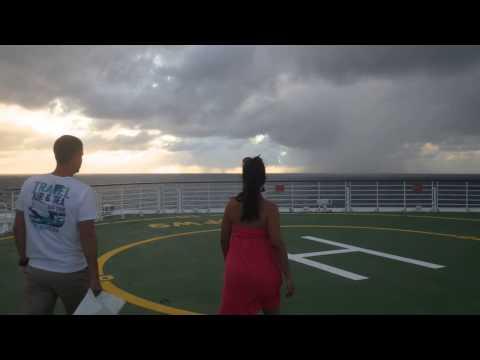 Sunset on Cruise Ship Bow