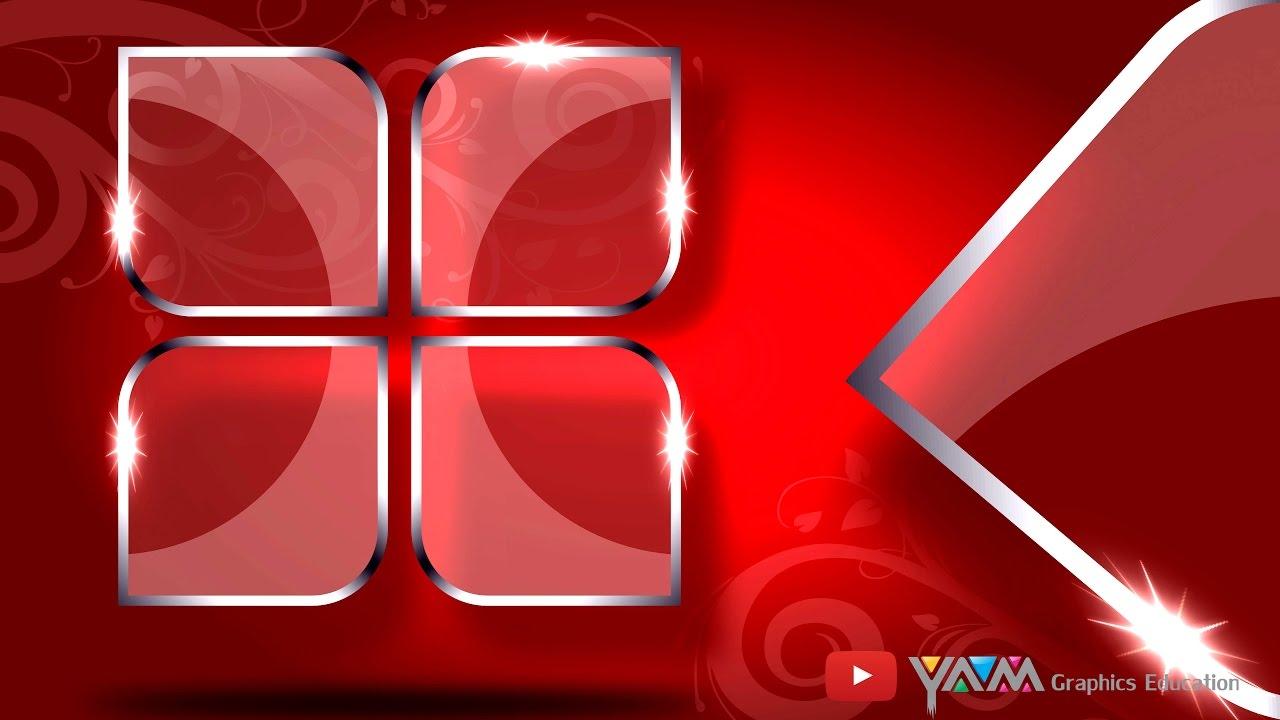3D Clear Glass Effect Logo Using Coreldraw X7 Tutorial {Eng )