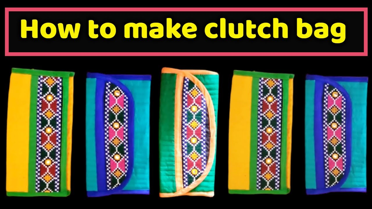 98b1733eec HOW TO MAKE TRADITIONAL CLUTCH BAG AT HOME-MAGICAL HANDS HINDI ...