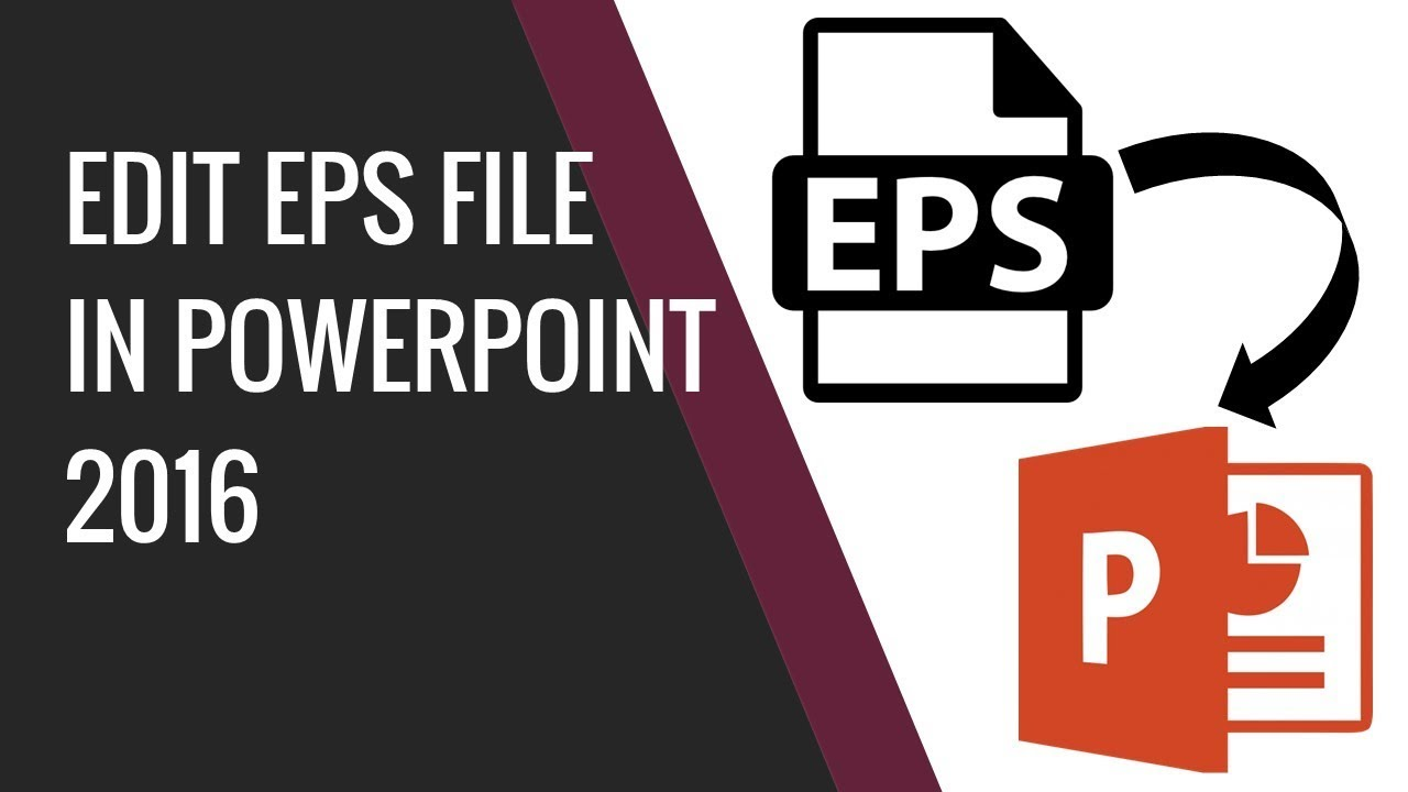 how to edit eps vector file in powerpoint 2016 youtube