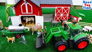 Schleich Farm World Playset Collection and Fun Farm Animals Toys For Kids