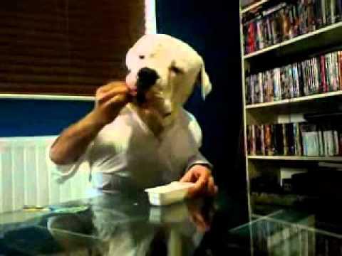 犬と人間の二人羽織