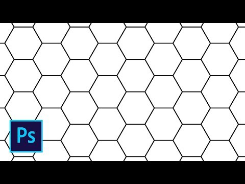 Узор из шестиугольников в фотошопе