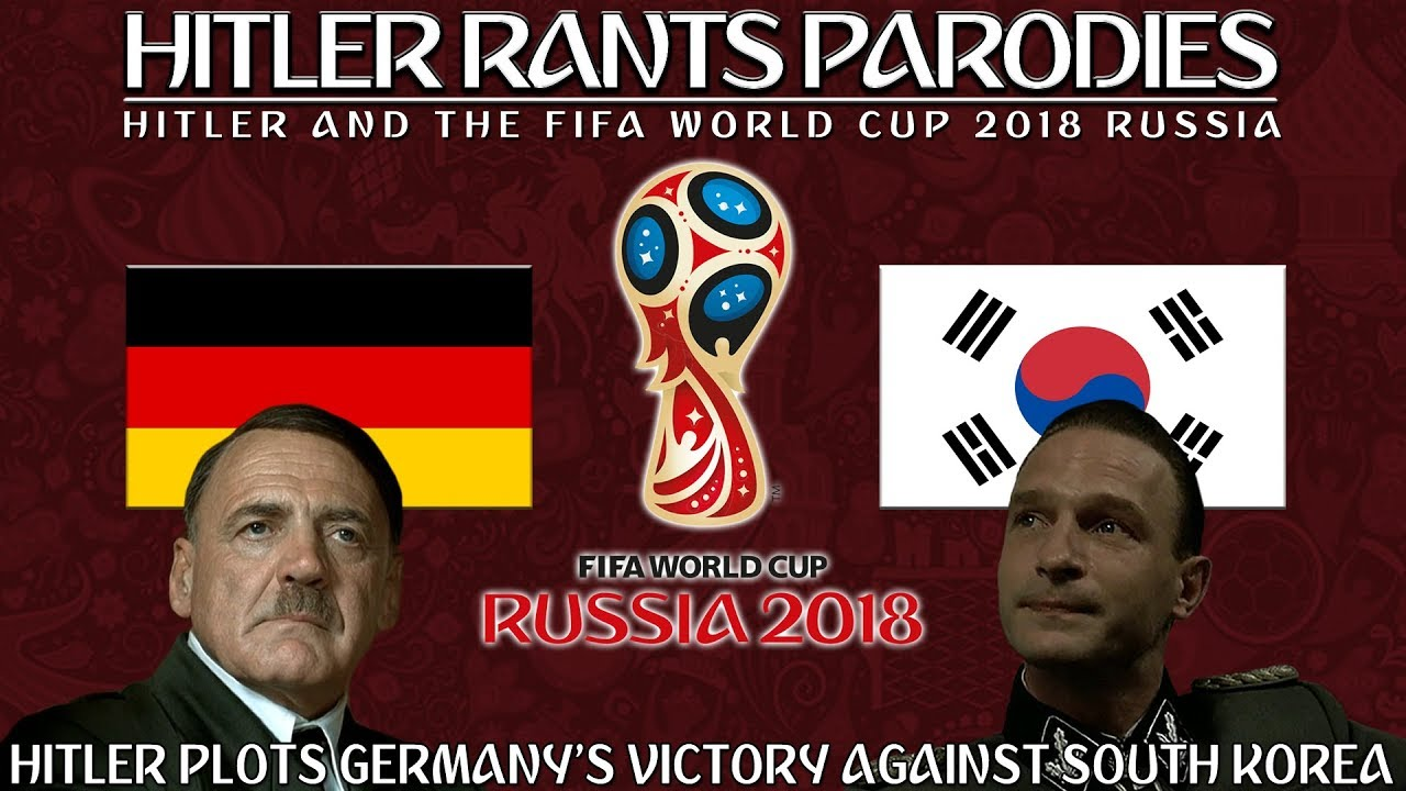 Hitler plots Germany's victory against South Korea in the World Cup