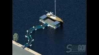 Floating Vehicle Driveway Bridge