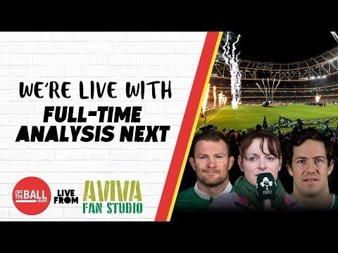 #AvivaFanStudio: Ireland 56-19 Italy Full-Time Analysis