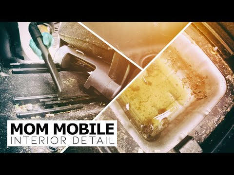 Detailing The Most Filthy Mom Mobile Ever! Full Interior Car Detail