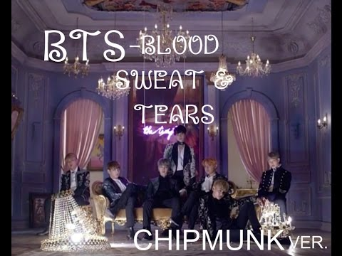 BTS -blood sweat & tears mv CHIPMUNK VER. (fast) // yai