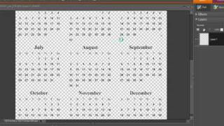 Making Digital Calendars in Photoshop and Photoshop Elements