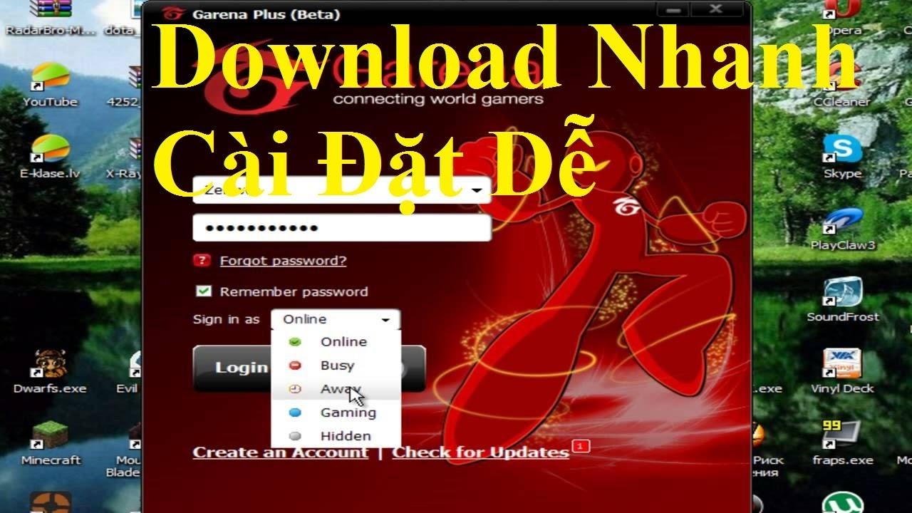 Hướng dẫn Download và cài đặt Garena Plus