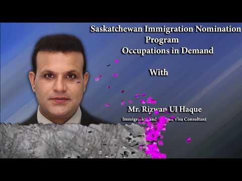 Saskatchewan Immigration Nomination Program - Occupations in Demand