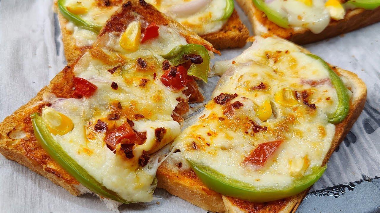 Jab Kuch Acha Ho Khana To Yeh Mazedar Toast Zarur Banana   Easy And Quick Bread Pizza   Pizza Toast
