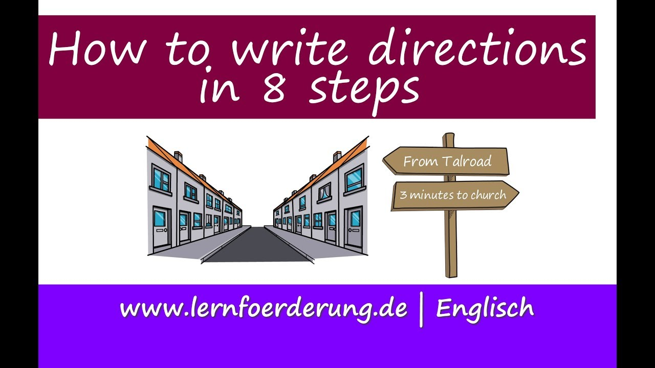 How to write directions in 12 easy steps